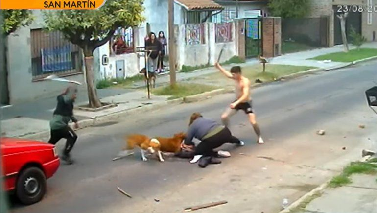Video: una mujer fue atacada ferozmente por tres perros