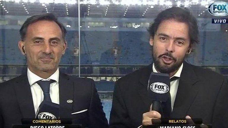 Mariano Closs se quedó sin voz mientras relataba el partido de River y estalló Twitter