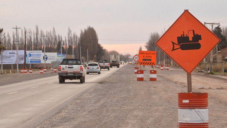 Precaución sobre Ruta 22: desvían el tránsito a la altura de Godoy