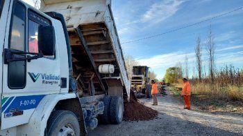vialidad arranco con obras de mejora sobre la ruta 65