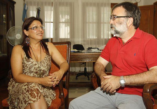 Sabina Costa recibió al diputado nacional Herman Avoscan