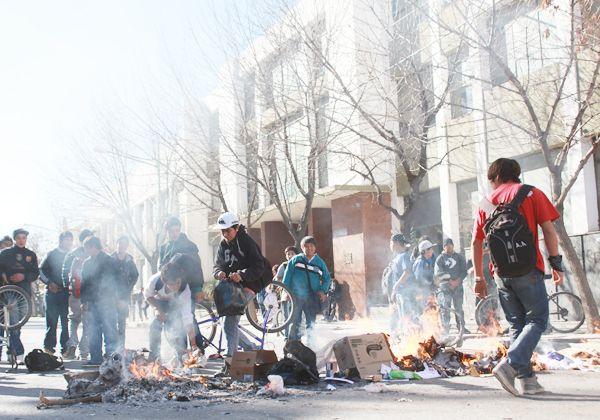 Movilización estudiantil por las horas libres