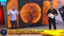 el record de calor en cipolletti fue noticia nacional