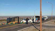 brutal accidente sobre la ruta nacional 151 dejo tres heridos