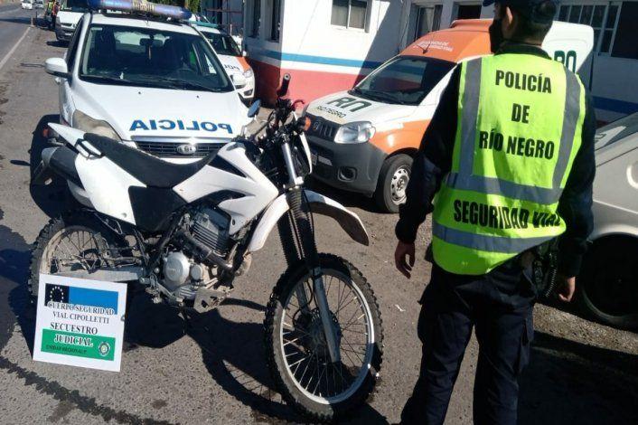 Circulaba en una moto enduro robada hace más de un año