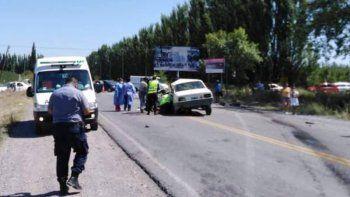 dos allenses murieron en un terrible choque sobre la ruta 22