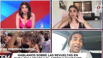 estallido social en cuba: detuvieron a influencer en medio de una entrevista