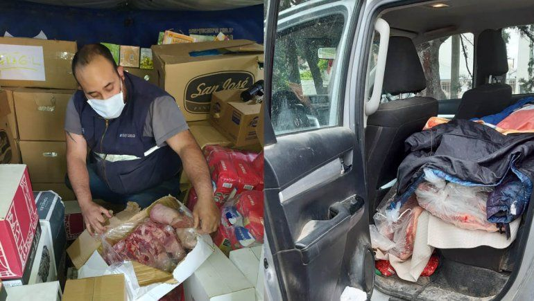 Contrabando: decomisan 3.800 kilos de carne, pescado y frutas