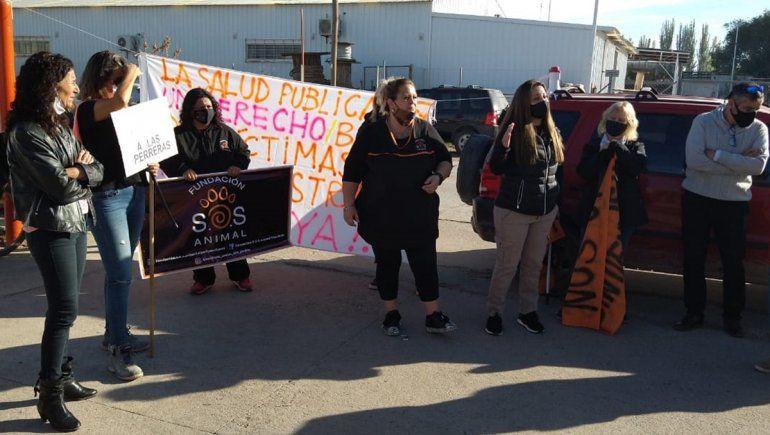 Día del Animal: proteccionista se movilizaron frente a las oficinas de Servicios Públicos
