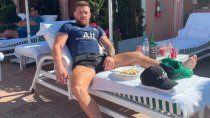 McGregor, desde Beverly Hills con la casaca del PSG.