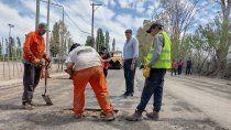 di tella recorrio los avances de la obra de asfalto de la calle maestro espinosa