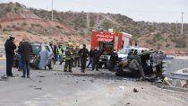 vuelco e incendio en la autovia sobre ruta 7: murio una mujer