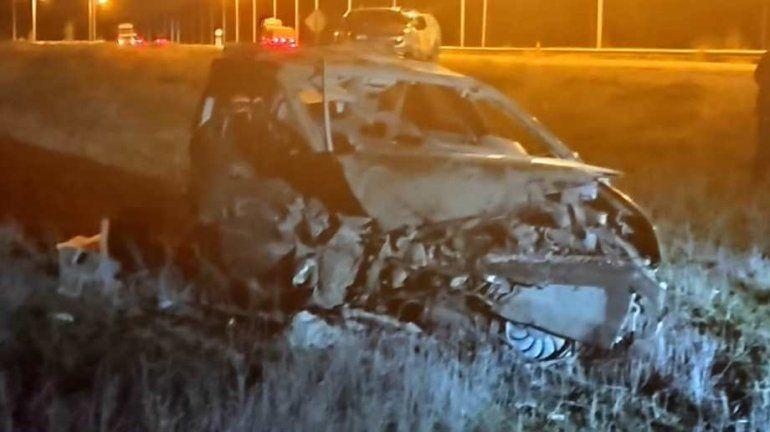 Escapó de una clínica y chocó contra un camión en Ruta 22