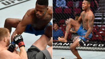 El debutante de la UFC que noqueó en siete segundos y se lesionó en pleno festejo