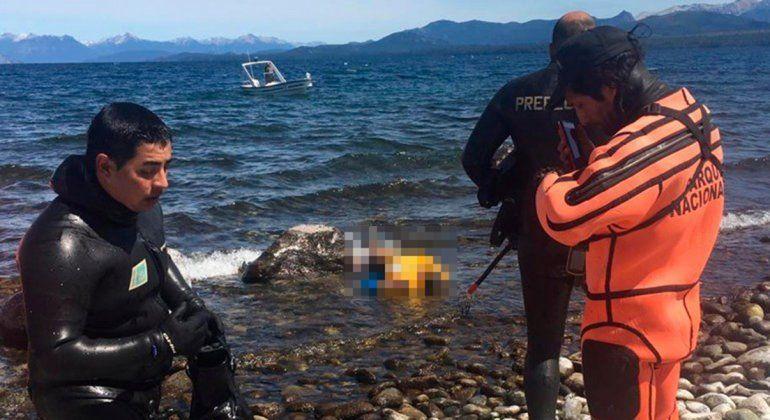 Hallaron muerto el kayakista inglés que cayó al lago Nahuel Huapi