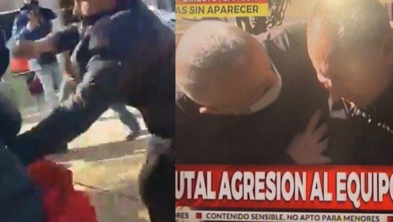 Brutal ataque a un móvil de Crónica TV mientras cubría el caso Guadalupe