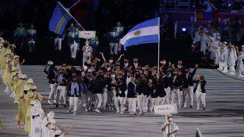 Tokio 2020: así fue el eufórico ingreso de la delegación argentina