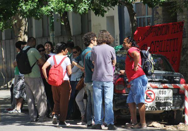 ATE se movilizó y protestó en la Comisaría Cuarta