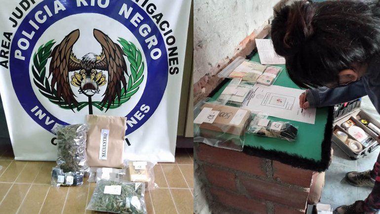 Secuestran droga, armas y dinero de todo tipo en varios allanamientos