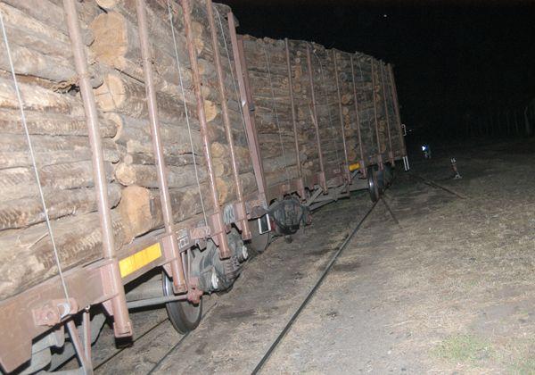 Descarriló tren en el cruce de calle Pacheco