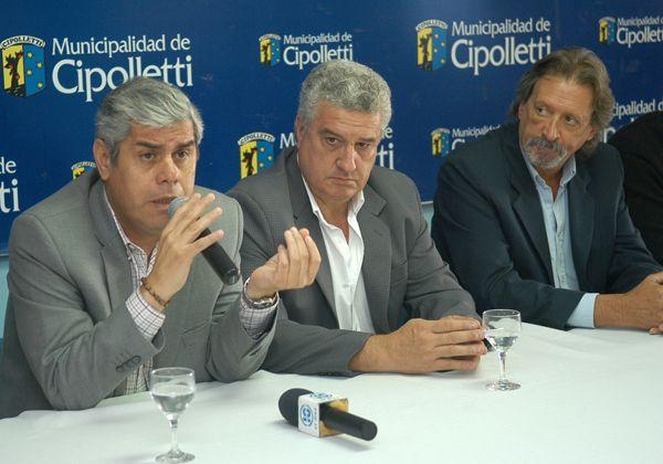 Baratti recibió al vicegobernador y al Jefe de la Policía de Río Negro