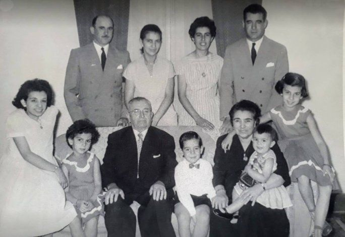 Ramón Chao y familia.