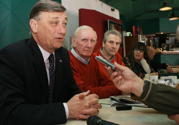 Binner respaldó a candidatos locales