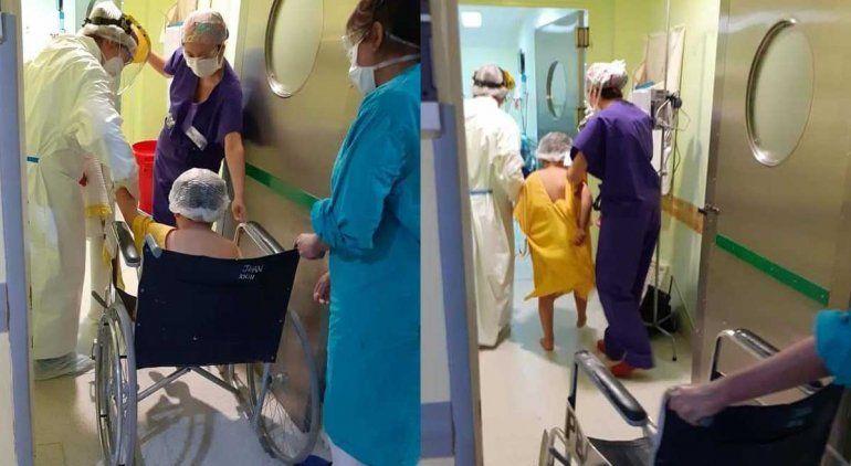 Francesco, el nene que se tragó un resorte, está internado en una clínica de Roca.