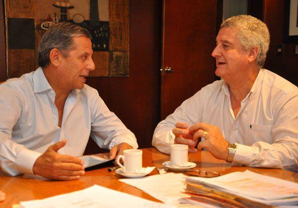Baratti y Quiroga avanzarán en gestiones por transporte y basura