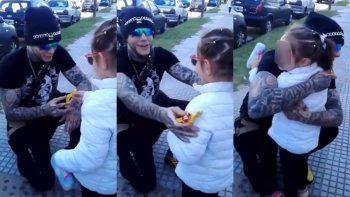 El video de Alex Caniggia y una niña, que dejó al descubierto el lado más dulce del Emperador