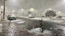 no es bariloche, es brasil: ola de frio polar y nevadas al sur del pais