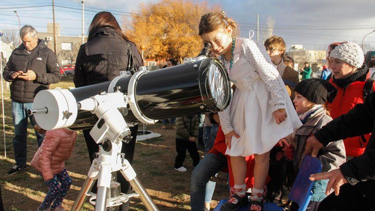El observatorio de los planetas se mudó a Las Grutas