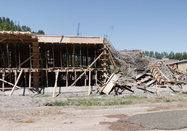 Se derrumbó una construcción que había sido multada por no tener permiso municipal