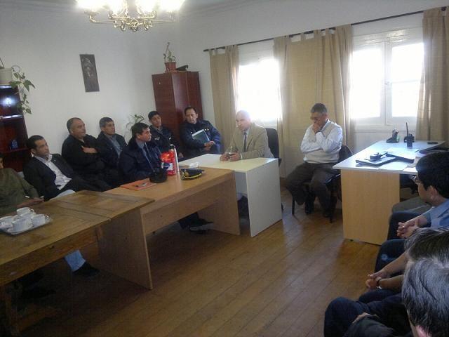 Gallinger se reunió con jefes policiales de la Regional V