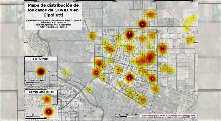Mapearon el avance del coronavirus: está presente en toda la ciudad