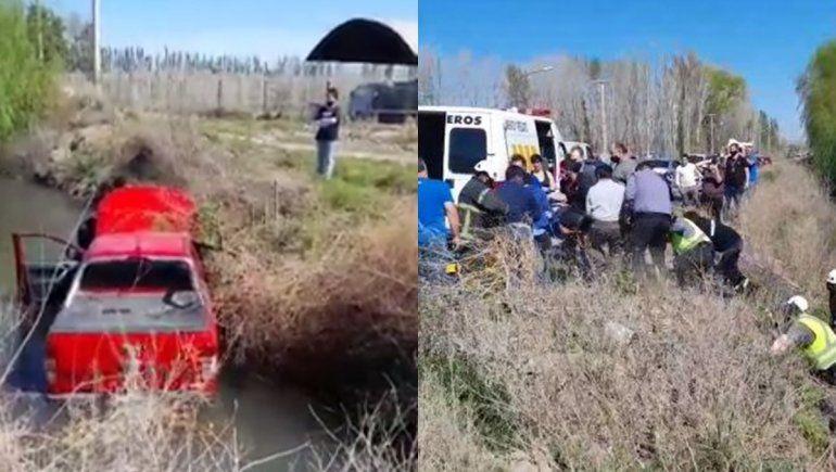 Ex intendente perdió el control de su camioneta y cayó a un desagüe