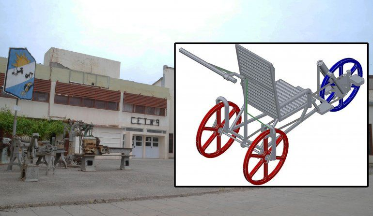 El CET 9 diseña una novedosa silla para trekking adaptado