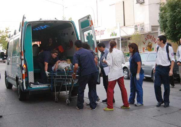 Dos heridos tras un violento choque