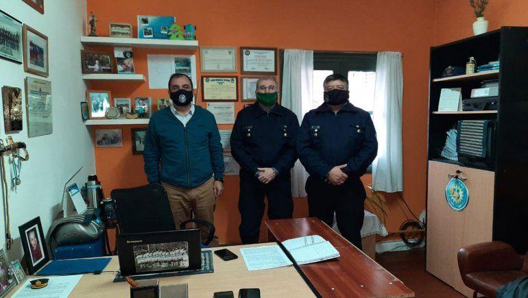 El jefe de la Policía visitó la Regional Quinta