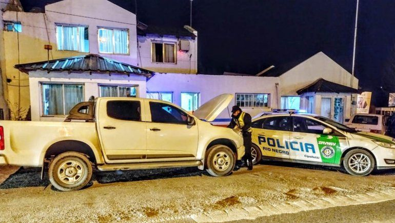 Secuestraron en Cipolletti una camioneta robada en Buenos Aires