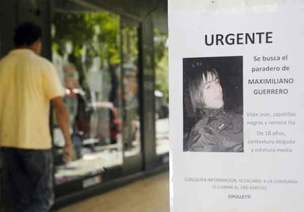 Emiten pedido de captura para joven desaparecido