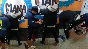 sorprendieron a un indocumentado con droga en la calle