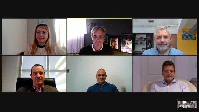 Sergio Massa mantuvo una conversación vía Zoom con dirigentes y militantes rionegrinos