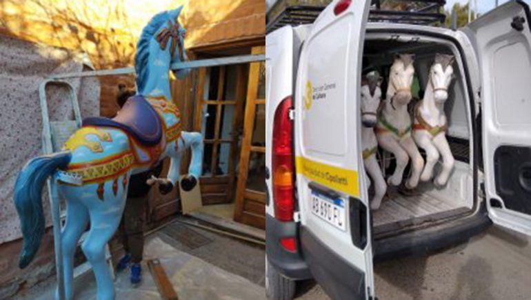 El Municipio unió fuerzas con artistas locales para darle vida a la calesita