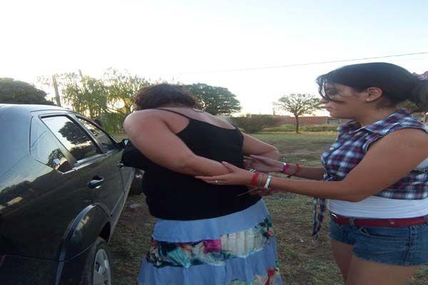 Ruth Montecino viajaba en taxi con su hijo menor de edad cuando fue detenida
