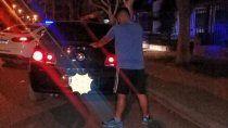 peligrosa fuga de un auto encendio las alarmas en el san pablo