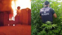 allanamiento, drogas y fuego tras el intento de homicidio