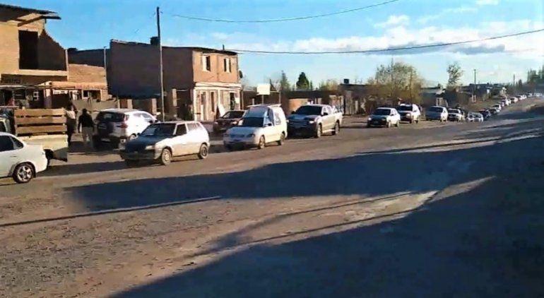 Gran caravana de protesta de los vecinos de Las Perlas