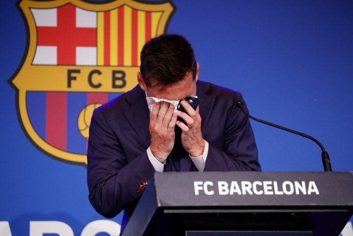 El momento más emotivo: Messi, totalmente quebrado y sin poder hablar