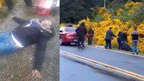 villa mascardi: impactante video del brutal ataque a un vecino